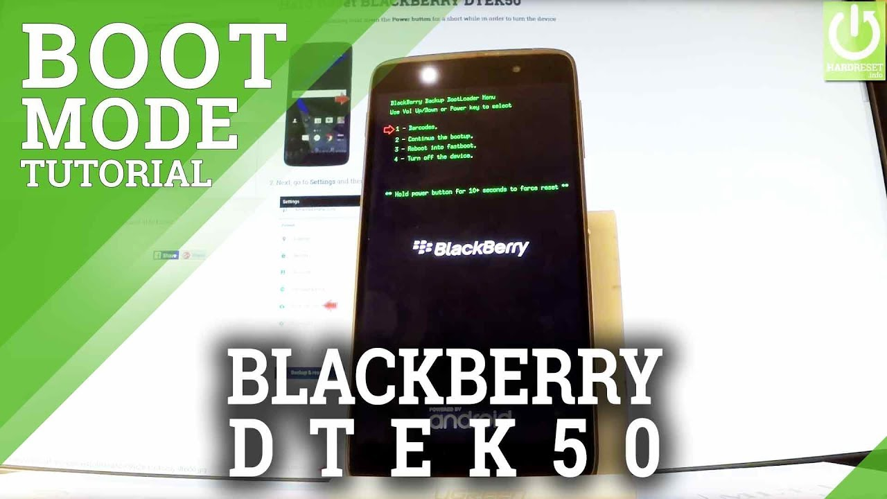 Bootloader Mode in BLACKBERRY DTEK50 - Enter / Exit Bootloader