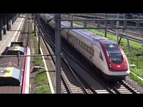 Genève: Trafic ferroviaire aux abords de la gare Cornavin