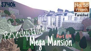 Roblox | BLOXBURG: Beverly Hills Mega Mansion (Speedbuild) [Part 1/4]