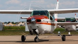 Cessna T210N + P210N Turbo Centurion start up and take off