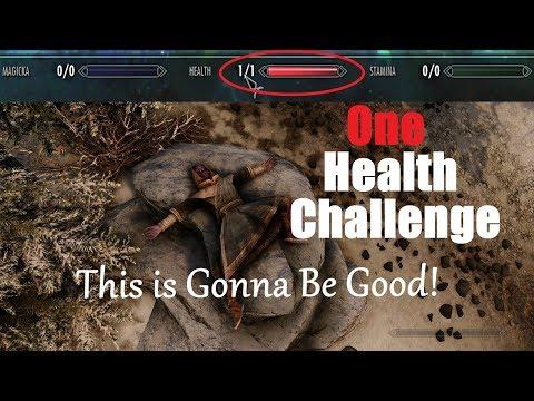 Skyrim Special Edition-1 Health Challenge (Part 1)