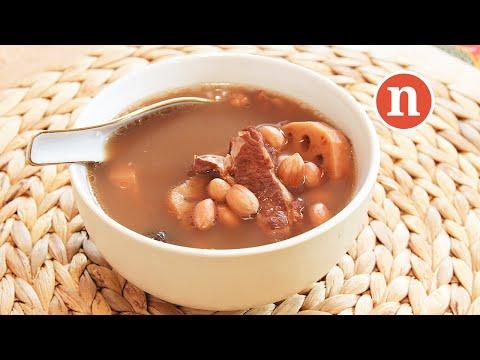 Lotus Root Soup With Peanuts | Ling Ngau Tong | 莲藕汤 [Nyonya Cooking]