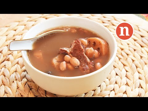 Lotus Root Soup with Peanuts | Ling Ngau Tong | 莲藕汤