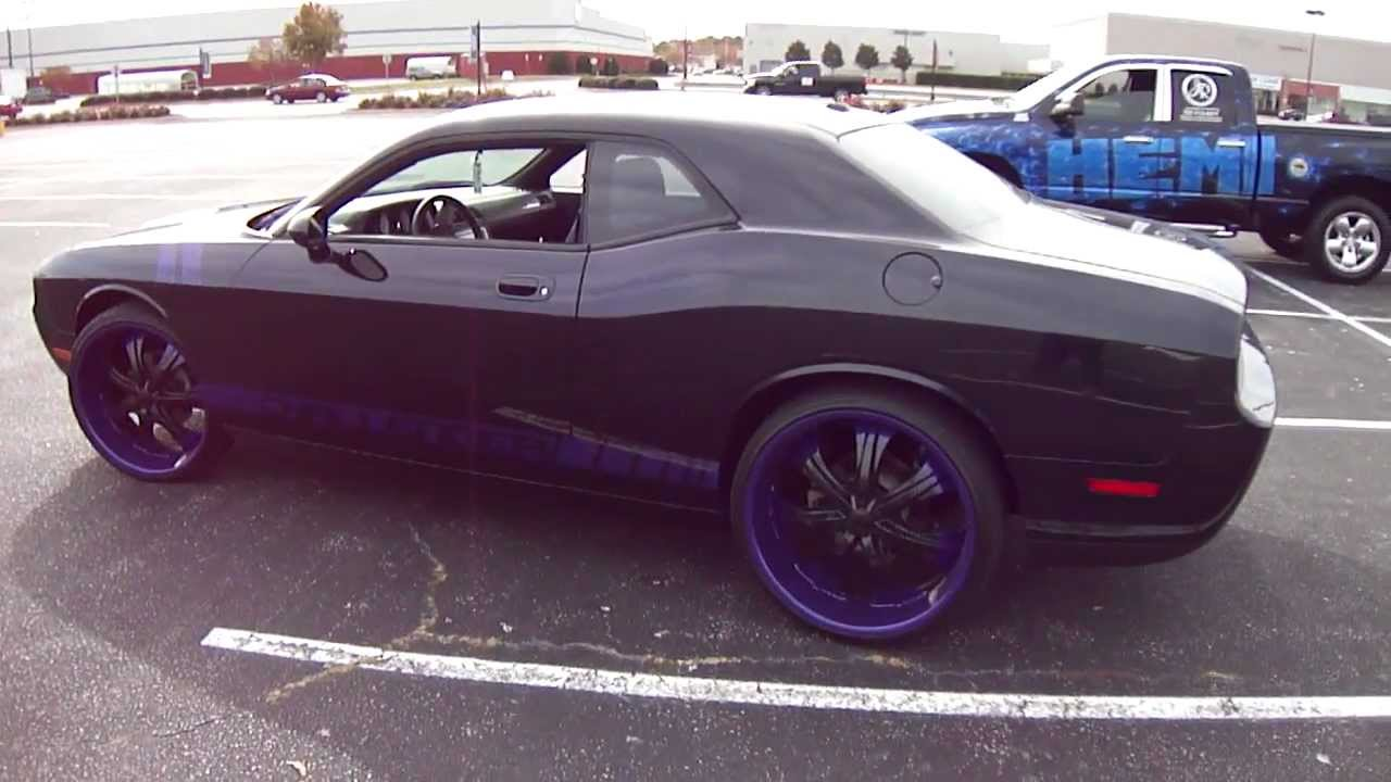 24 Rims On 2010 Dodge Challenger Youtube
