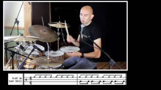 Roberto Serrano on Drums, Samba 1, Lesson, Tutorial