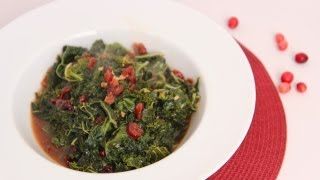 Sauteed Kale With Cranberries & Balsamic Recipe - Laura Vitale - Laura In The Kitchen Episode 491