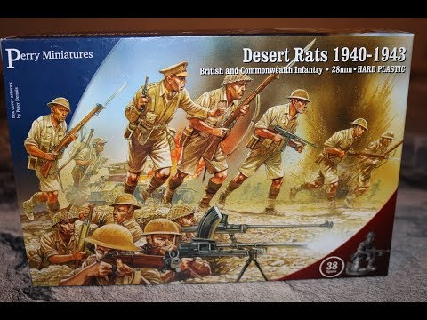 Unboxing British Desert Rats 1940 Perry Miniatures