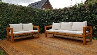 DIY 2-Sitzer Gartenbank selber bauen / Homemade Outdoor Sofa