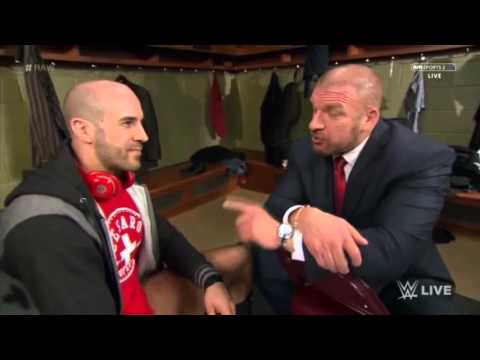 Triple H gives motivation in locker room for Antonio Cesaro