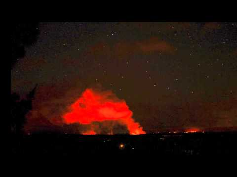 1 hour of the Pahoa / Puna, Hawaii lava flow in 10 seconds