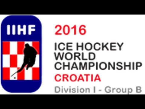 Lithuania vs  Croatia   2016 IIHF Ice Hockey World Championship Division I Group B