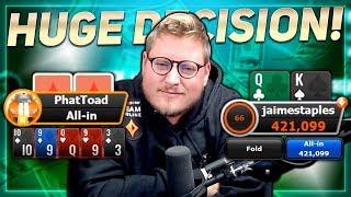 HUGE DECISION DEEP IN THE $320 GLADIATOR!! PokerStaples Stream Highlights