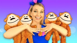 Five Little Monkeys Jumping on The Bed | Pretty Patty - Nursery Rhymes & Kids Song