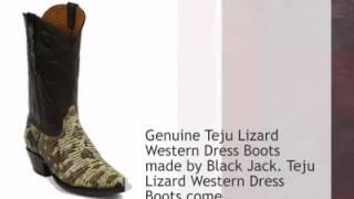 Black Jack Teju Lizard Cowboy Boots - Timsboots.com