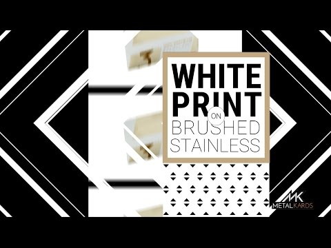 White Metal Business Cards by MetalKards.com