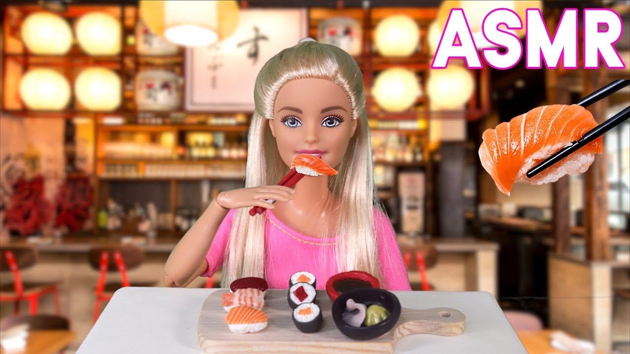 Download Barbie Eating SUSHI 🍣Salmon & Tuna! (Mukbang ASMR Stop Motion)