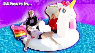 Download LAST TO LEAVE THE GIANT FLOATY WINS $10,000 CHALLENGE! Mp3 and Videos