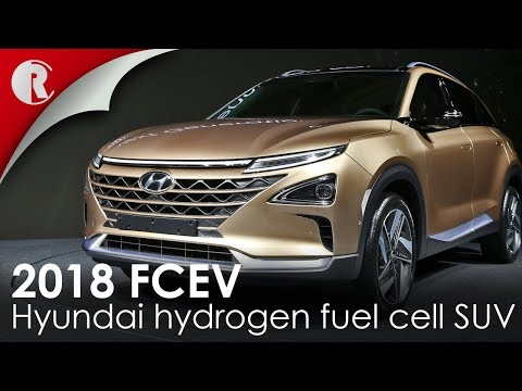 Hyundai hydrogen fuel cell SUV 2018 revealed featuring a driving range of about 800 kilometres.