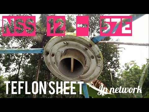 NSS-12 @ 57 East tracking with teflon sheet  frequency
