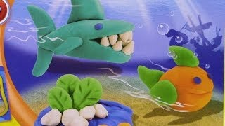 Play-doh Shark! Makeables Diy, How To Make Your Own Ocean Creatures 상어! 자신의 해양 생물을 만드는 방법