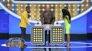 Steve doesn't know PIGEON Language!!!! Watch NOW to hear Steve question EWE! | Family Feud Ghana