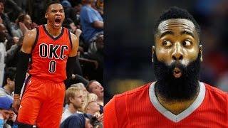 Russell westbrook breaks triple-double record, hits game-winner, james harden still not impressed