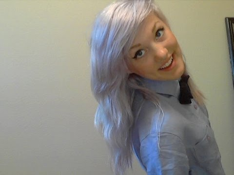 How to get silver/white/grey hair - YouTube