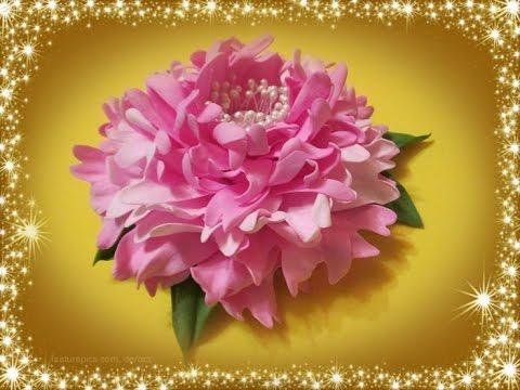 Пион - цветок из фоамирана своими руками  / Мастер класс / flowers from foamirana