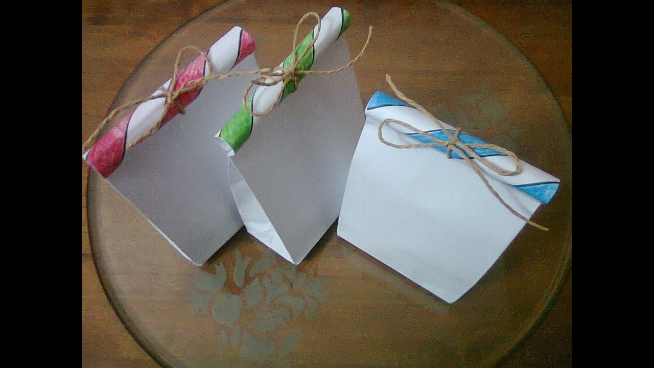 DIY : #3 Cute Paper Bags For Gift ♥ - YouTube