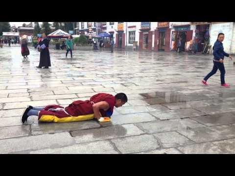 Tibetan Buddhist Monk Praying
