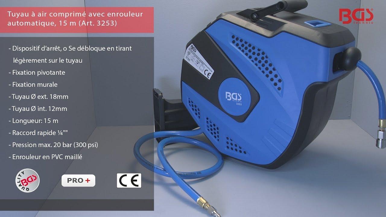 Tuyau à air comprimé avec enrouleur automatique | 15 m (Ref. 3253)