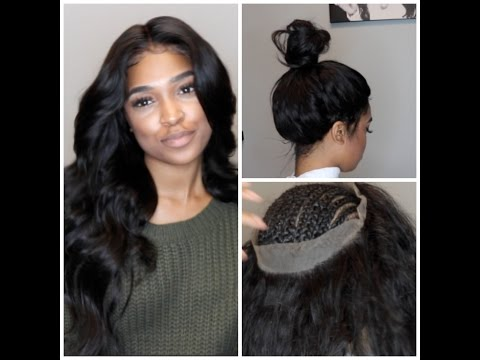 360 lace frontal install! NO GLUE, TAPE,