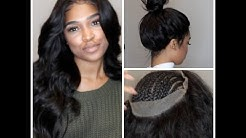 360 lace frontal install! NO GLUE, TAPE, OR GEL