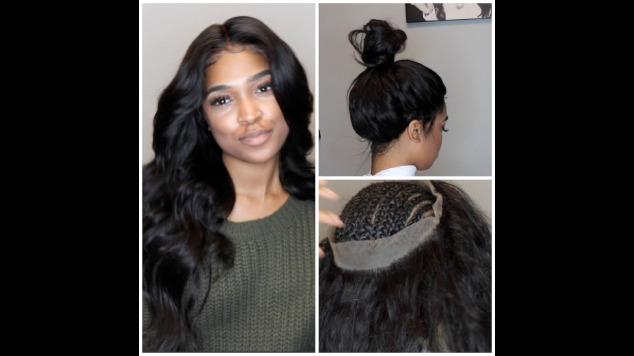 360 lace frontal install! NO GLUE 1f47c7c1cd78
