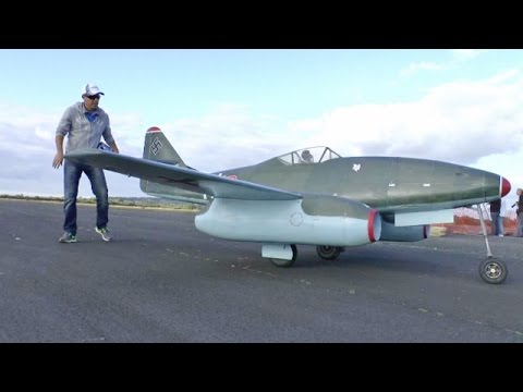 "① ONBOARD CAMS - GIANT 1/3 SCALE RC MESSERSCHMITT ME 262 ALI MACHINCHY ""CLASSIC JETS"" ABINGDON 2014"