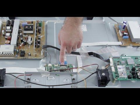 Como reparar arreglar plasma tv samsung problemas de la for Reparar pantalla televisor samsung