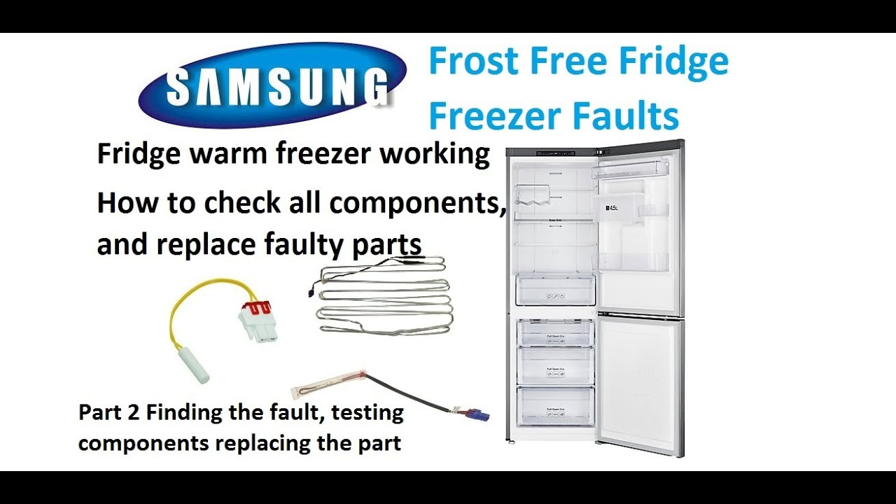 Part 2 Samsung Fridge freezer faults Testing Ntc,Element, Thermal fuse and  replacing parts