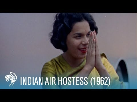 Namaste: A Day in the Life of an Air India Hostess (1962) | British Pathé