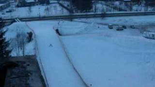 saut  ski entranement sur le grpon chamonix 01 2009