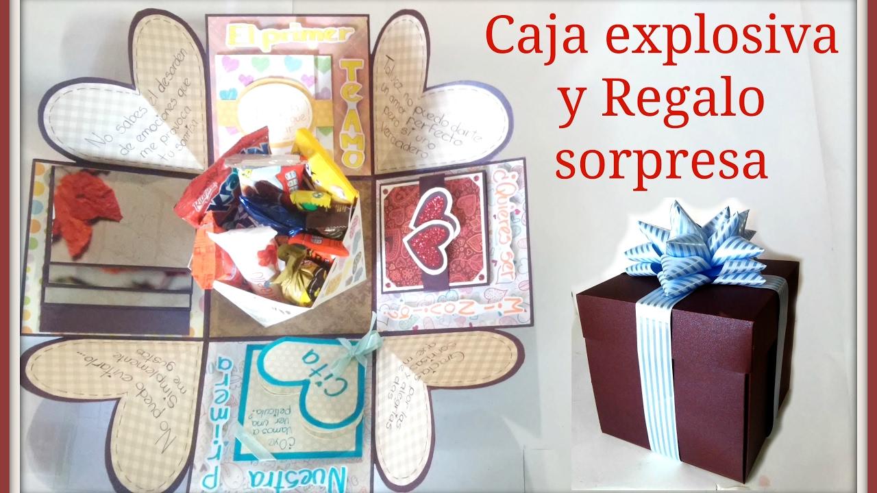 Caja Explosiva Con Regalo Sorpresa Que Cuanta Una Historia De Amor Youtube