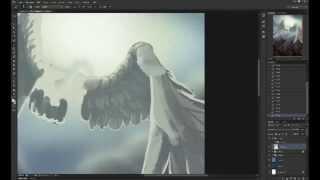 Nellyaa draws an angel [Digital Painting]