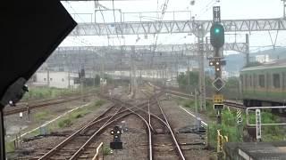 「おはようライナー新宿」の展望風景 ~小田原駅発車直後~
