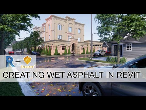 How to create a WET GROUND SURFACE | Revit Tutorials