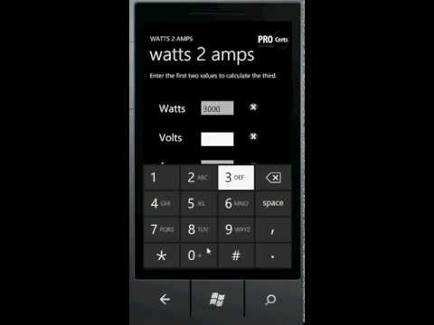Watts to Amps Converter / Calculator for Windows Phone