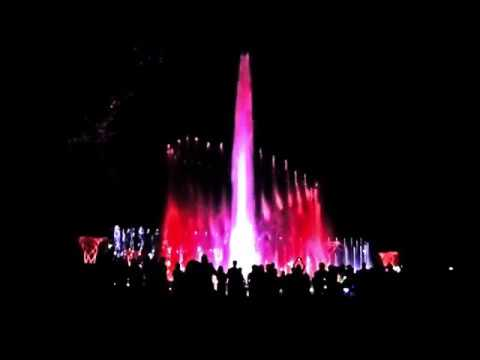 The musical fountain on Margaret Island Budapest - Dire Straits