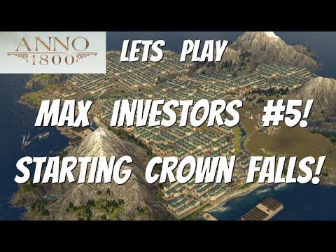Anno 1800, Lets Play, Season3, All DLCs, Max Investors playthrough #5 Starting Crown Falls  