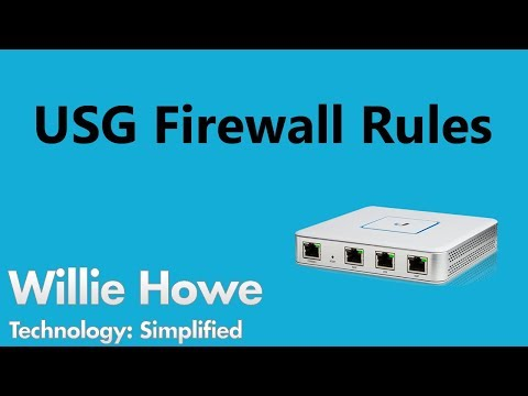 UniFi USG Firewall Rules