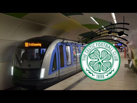 Celtic Glasgow Fans singing In Munich Underground