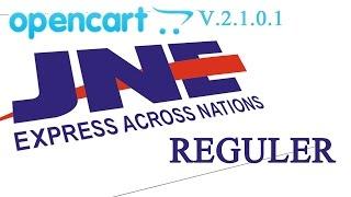 JNE Reguler Untuk Opencart V2.1.0.1
