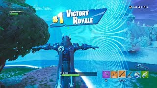 "FORTNITE First Win with ""ICE KING"" SKIN (TIER 100 OUTFIT) 